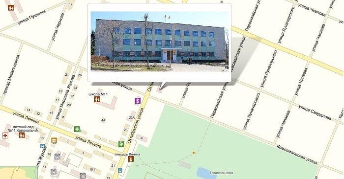 Схема расположения в городе Шумерля