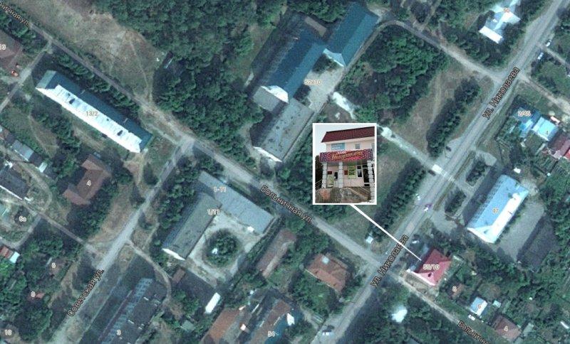 Схема расположения в городе Мариинский Посад