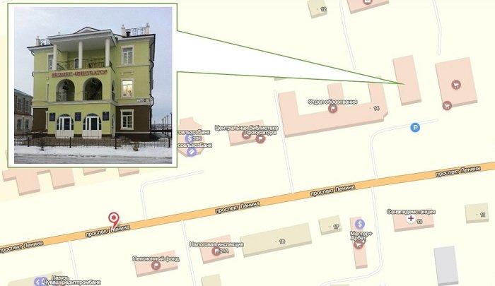Схема расположения в селе Батырево